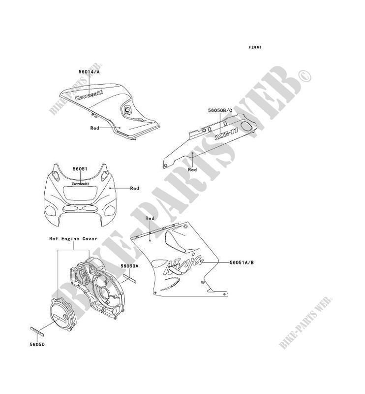 Kawasaki Zzr 1100 Aufkleber