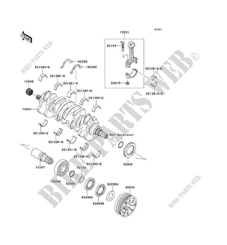 KURBELWELLE für Kawasaki JET SKI ULTRA 300X 2013