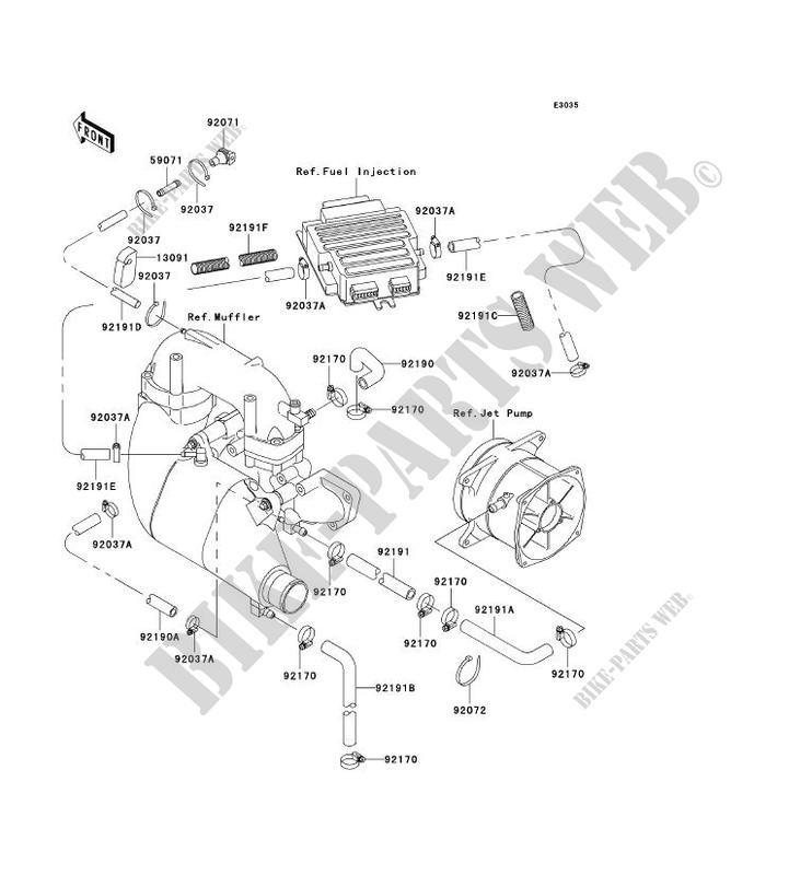 ENFRIAMIENTO JT1100 F2 JET SKI 1100 STX D.I 2002 1100 JET