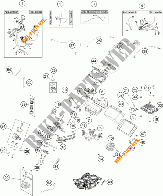 WIRING HARNESS for KTM 1190 ADVENTURE R ABS 2014 # KTM