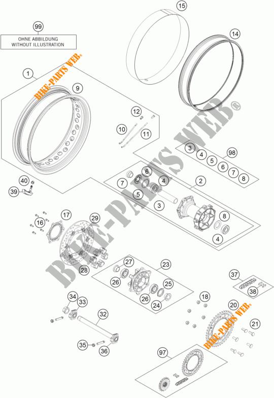 REAR WHEEL for KTM 1190 ADVENTURE R ABS 2013 # KTM
