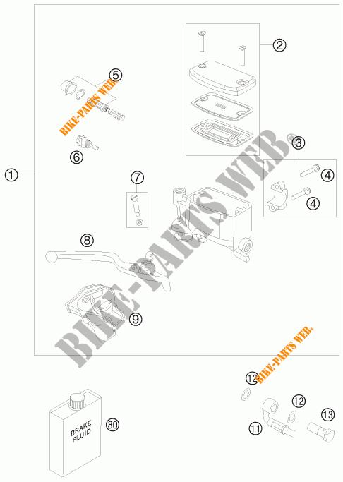 FRONT BRAKE MASTER CYLINDER for KTM 990 ADVENTURE R 2010