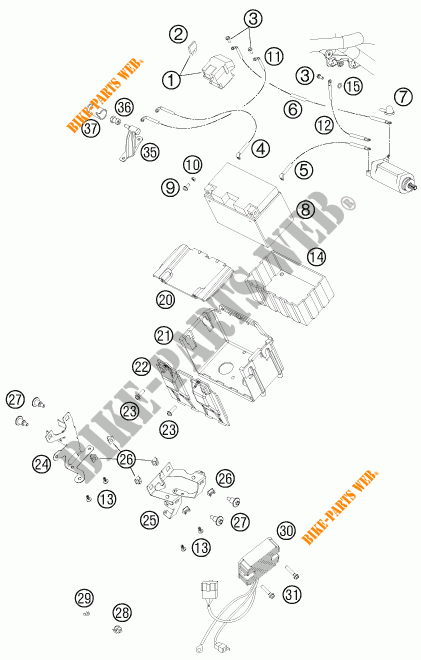 BATTERY for KTM 990 ADVENTURE DAKAR EDITION 2011 # KTM