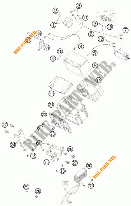 BATTERY for KTM 990 ADVENTURE WHITE ABS 2011 # KTM