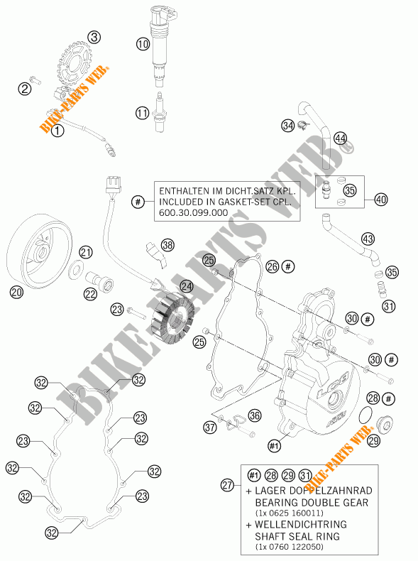 IGNITION SYSTEM for KTM 990 ADVENTURE WHITE ABS 2011 # KTM