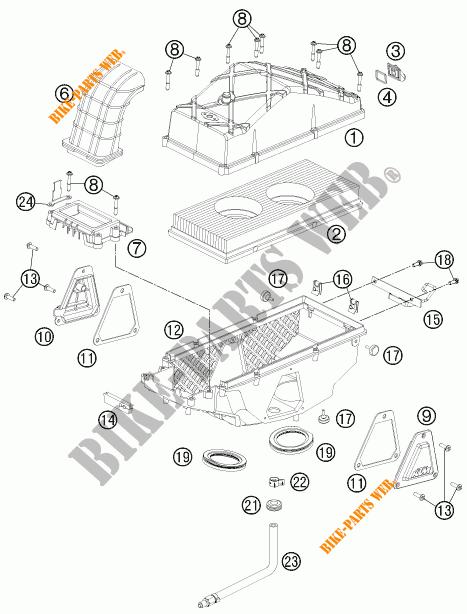 AIR FILTER for KTM 990 ADVENTURE DAKAR EDITION 2011 # KTM