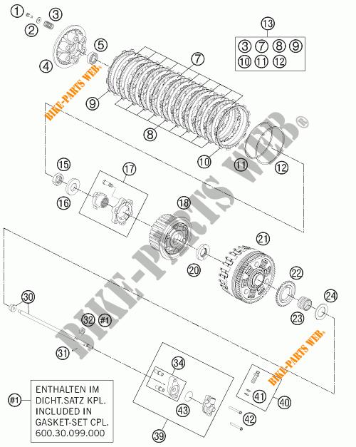 CLUTCH for KTM 990 ADVENTURE DAKAR EDITION 2011 # KTM