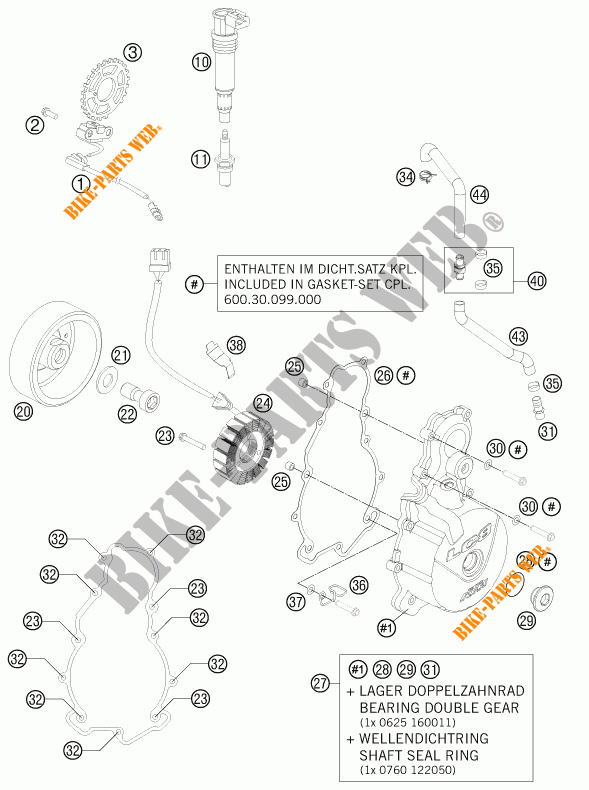 IGNITION SYSTEM for KTM 990 ADVENTURE DAKAR EDITION 2011