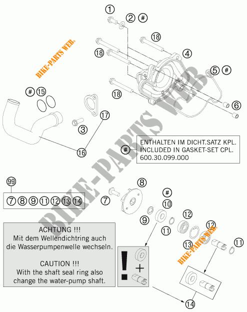 WATERPUMP for KTM 990 ADVENTURE DAKAR EDITION 2011 # KTM