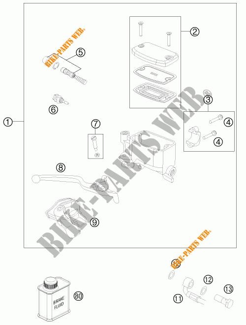 FRONT BRAKE MASTER CYLINDER for KTM 990 ADVENTURE WHITE