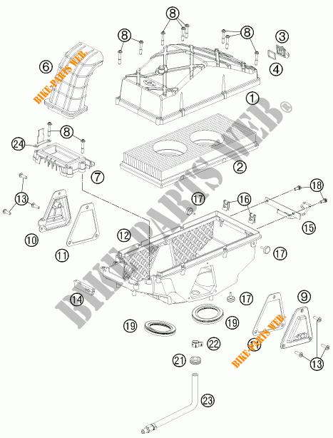 AIR FILTER for KTM 990 ADVENTURE ORANGE ABS 2011 # KTM
