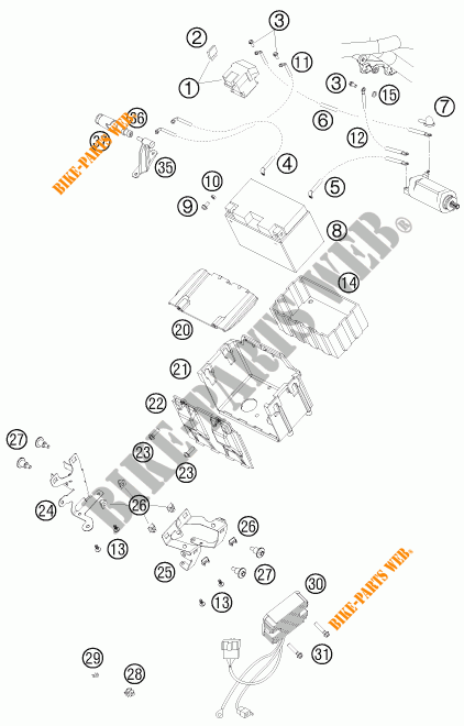 BATTERY for KTM 990 ADVENTURE ORANGE ABS 2010 # KTM