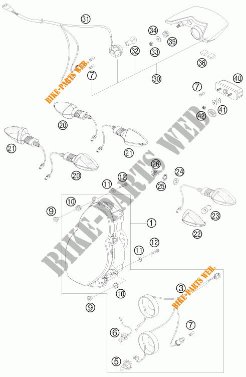 HEADLIGHT / TAIL LIGHT for KTM 990 ADVENTURE BLACK ABS