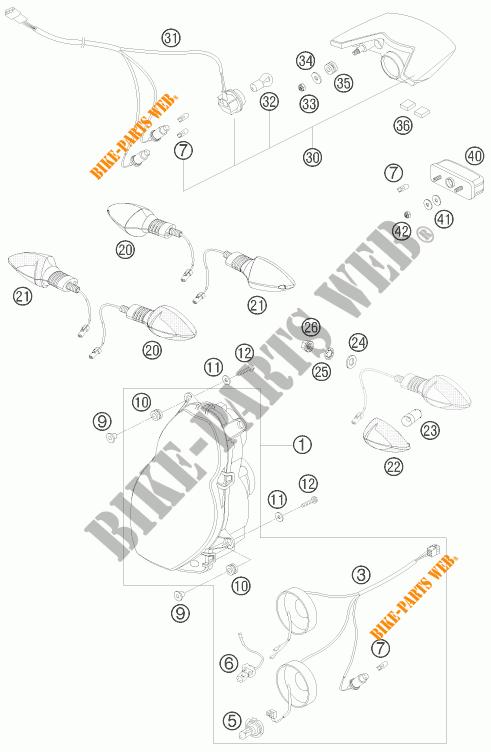 HEADLIGHT / TAIL LIGHT for KTM 990 ADVENTURE ORANGE ABS