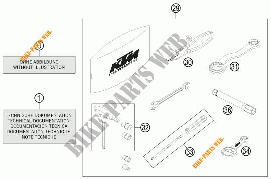 TOOL KIT / MANUALS / OPTIONS for KTM 690 SMC 2011 # KTM