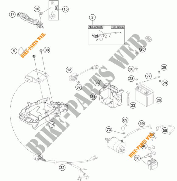 WIRING HARNESS for KTM 300 XC-W SIX DAYS 2015 # KTM
