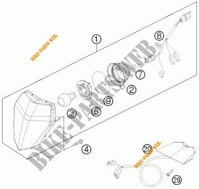 HEADLIGHT / TAIL LIGHT for KTM 250 XCF-W 2012 # KTM
