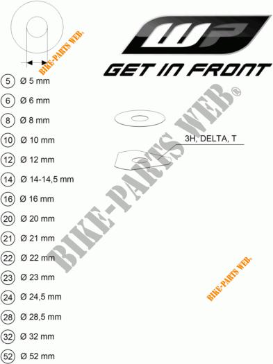 WP SHIMS FOR SETTING for KTM 350 XCF-W 2012 # KTM