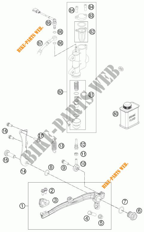 REAR BRAKE MASTER CYLINDER for KTM FREERIDE 350 2012 # KTM