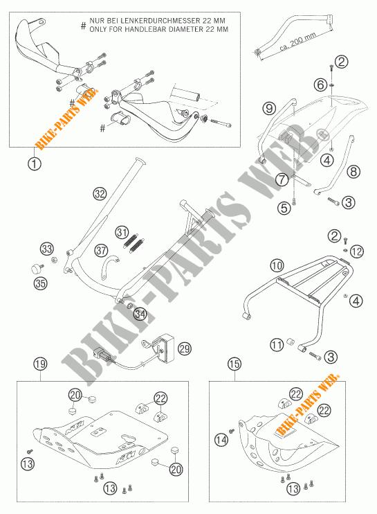 ACCESSORIES for KTM 640 LC4 ENDURO ORANGE 2006 # KTM