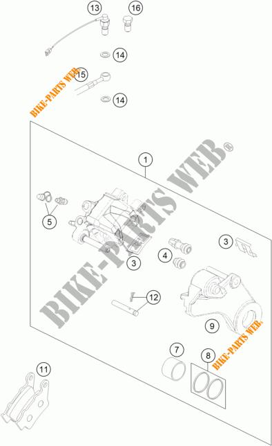 REAR BRAKE CALIPER for KTM 450 RALLY FACTORY REPLICA 2015