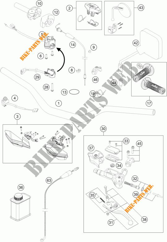 HANDLEBAR / CONTROLS for KTM 300 EXC SIX DAYS 2015 # KTM