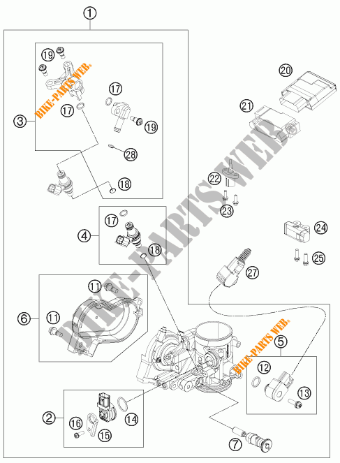 THROTTLE BODY for KTM 250 EXC-F SIX DAYS 2015 # KTM