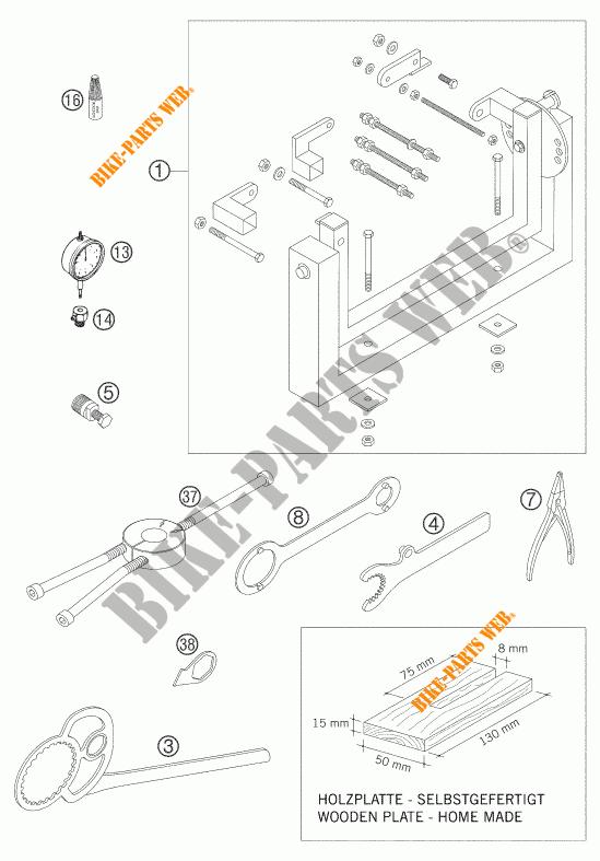 SPECIFIC TOOLS (ENGINE) for KTM 125 EXC 2005 # KTM