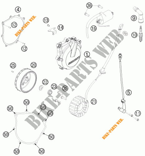 IGNITION SYSTEM for KTM 450 EXC SIX DAYS 2014 # KTM