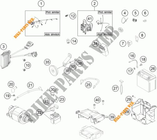 WIRING HARNESS for KTM 450 EXC SIX DAYS 2014 # KTM