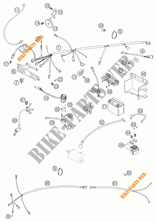 WIRING HARNESS for KTM 400 EXC RACING SIX DAYS 2003 # KTM