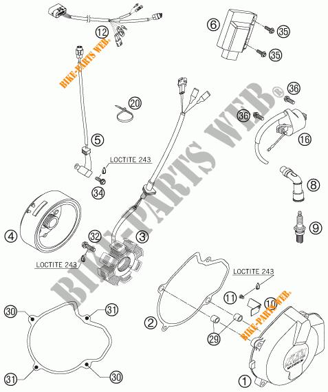 IGNITION SYSTEM for KTM 400 EXC RACING 2006 # KTM