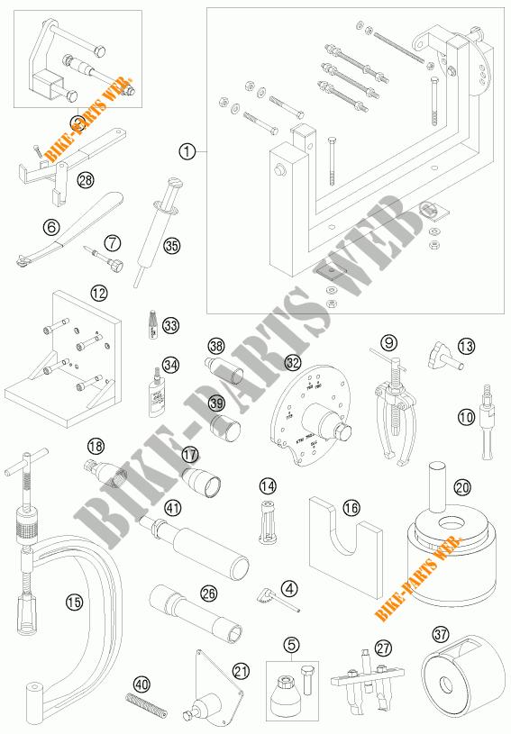 SPECIFIC TOOLS (ENGINE) for KTM 400 EXC 2010 # KTM