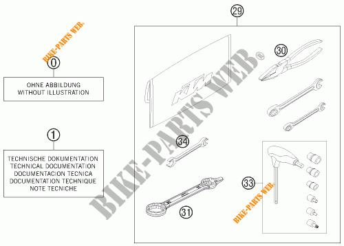TOOL KIT / MANUALS / OPTIONS for KTM 350 EXC-F 2012 # KTM