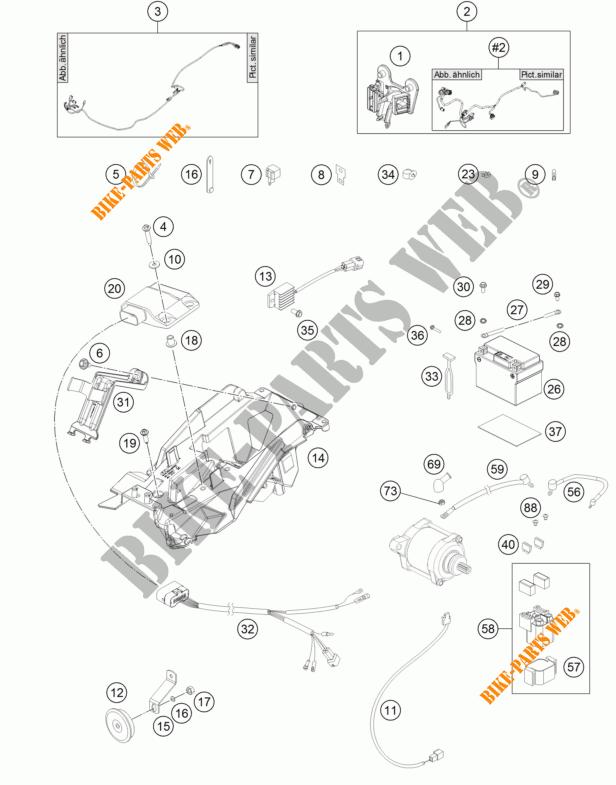 WIRING HARNESS for KTM 250 EXC SIX-DAYS 2017 # KTM