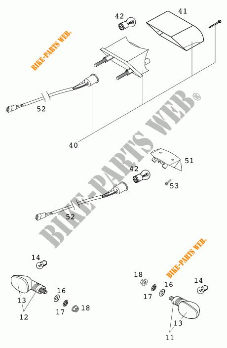 HEADLIGHT / TAIL LIGHT for KTM 200 EXC 2000 # KTM