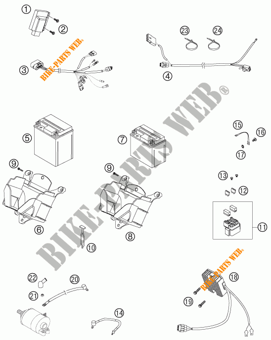 WIRING HARNESS for KTM 505 SX-F PRESERIES 2007 # KTM