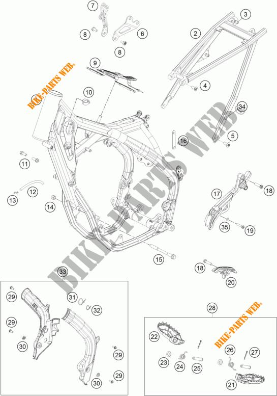 FRAME for KTM 250 SX-F FACTORY EDITION 2015 # KTM