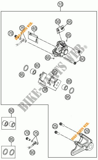 REAR BRAKE CALIPER for KTM 85 SXS 19/16 2015 # KTM