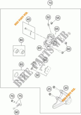 REAR BRAKE CALIPER for KTM 85 SX 19/16 2017 # KTM