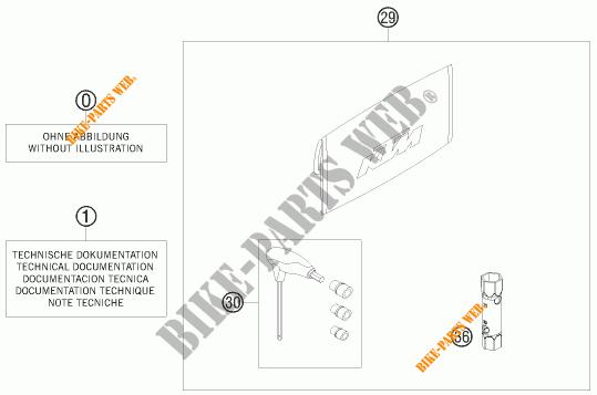 TOOL KIT / MANUALS / OPTIONS for KTM 50 SX MINI 2008 # KTM