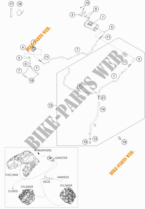 EVAPORATIVE CANISTER for KTM 1290 SUPER DUKE GT BLACK 2018
