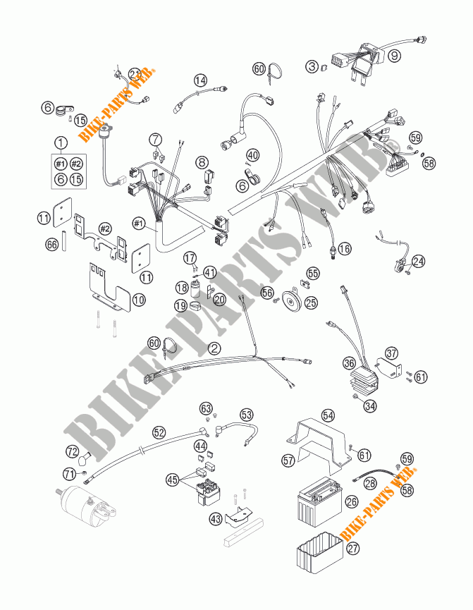 WIRING HARNESS for KTM 640 DUKE II LIMITED EDITION 2006