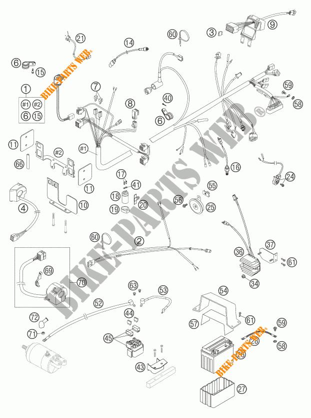 WIRING HARNESS for KTM 640 DUKE II YELLOW 2004 # KTM
