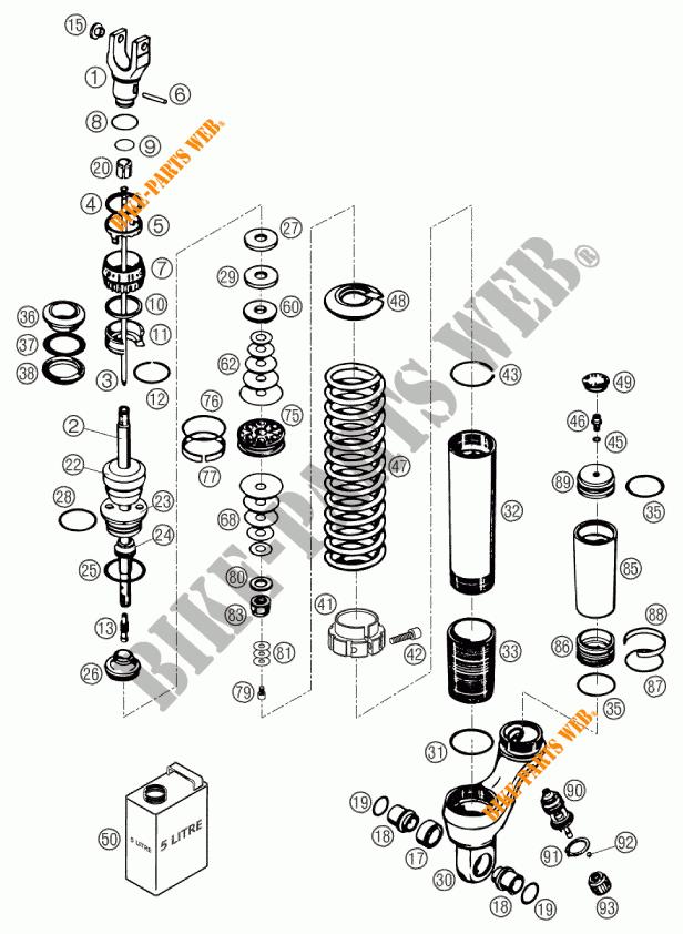 640 DUKE II ORANGE DUKE 2002 640 KTM Ktm motorcycle # KTM