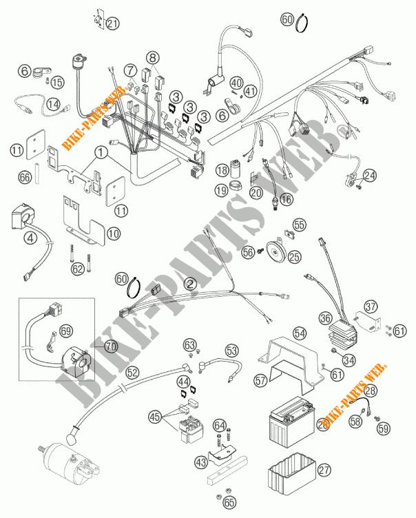 WIRING HARNESS for KTM 640 DUKE II ORANGE 2002 # KTM