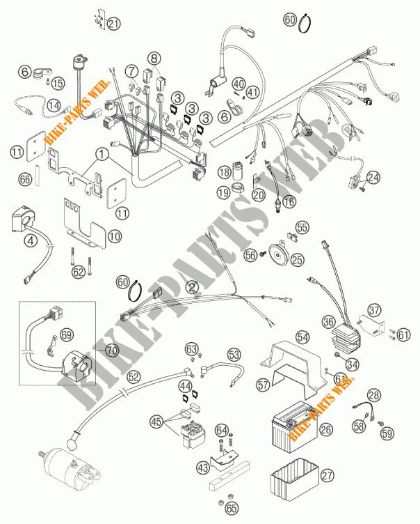 WIRING HARNESS for KTM 640 DUKE II SCHWARZ 2002 # KTM