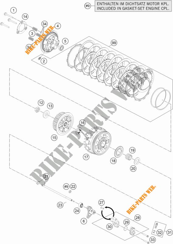 CLUTCH for KTM 1290 SUPER DUKE GT ORANGE 2017 # KTM
