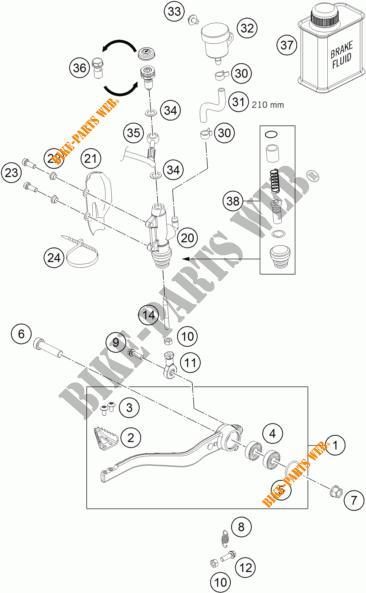REAR BRAKE MASTER CYLINDER for KTM 690 DUKE WHITE 2017