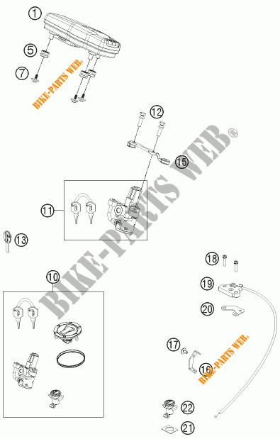 IGNITION SWITCH for KTM 690 DUKE WHITE 2012 # KTM